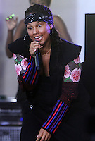 NEW YORK, NY-September 02: Alicia Keys performed NBC's Today Show Citi Concert Series at Rockefeller Center in New York. NY September 02, 2016. Credit:RW/MediaPunch