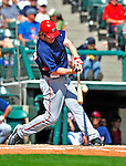 12 March 2009: Washington Nationals' outfielder Austin Kearns in action during a Spring Training game against the Atlanta Braves at Disney's Wide World of Sports in Orlando, Florida. The Braves defeated the Nationals 6-2 in the Grapefruit League matchup. Mandatory Photo Credit: Ed Wolfstein Photo