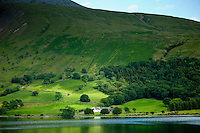 Wasdale Head Hall Farm by Wastwater in the shadow of Sca Fell Pike in the Lake District National Park, Cumbria, UK