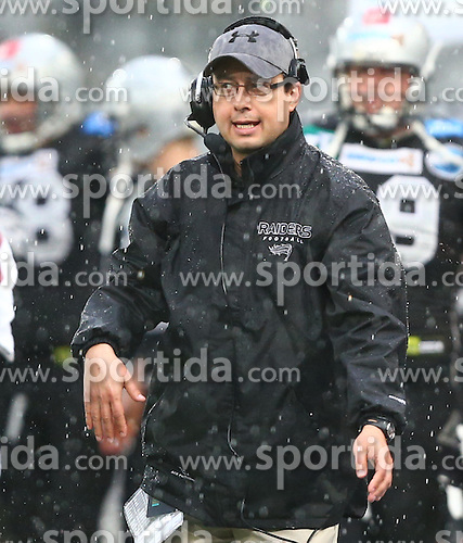 04.05.2013, Tivoli Stadion, Innsbruck, AUT, AFL, Swarco Raiders Tirol vs Prag Black Panthers, im Bild Shuan Fatah, (SWARCO Raiders Tirol, Head Coach)  // during the Austrian Football League Game between Swarco Raiders Tirol and Prague Black Panthers at the Tivoli Stadion, Innsbruck, Austria on 2013/05/04. EXPA Pictures © 2013, PhotoCredit: EXPA/ Thomas Haumer