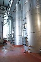stainless steel tanks , Bodegas Otero, Benavente spain castile and leon
