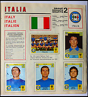 BNPS.co.uk (01202 558833)<br /> Pic: BerkshireAuctionRooms/BNPS<br /> <br /> Finallist's Italy, who were thrashed by Brazil 4-1.<br /> <br /> A schoolboy's precious pennies have turned into &pound;1200 as a complete Panini sticker album from the legendary 1970 World Cup has emerged for auction.<br /> <br /> Not only did Mexico 70 give rise to some of the most famous World Cup moments of all time, it also launched the Panini brothers as a global brand and led to frantic playground swapping up and down Britain.<br /> <br /> The tournament held 47 years ago is often cited as the greatest World Cup. With 'the most beautiful goal of all time', Gordon Bank's save, Gerd Muller up front for Germany and Bobby Moore v Pele the tournament had everything.<br /> <br /> The complete album is being sold by Berkshire Auction Rooms on Saturday.