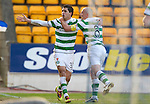 St Johnstone v Celtic.....12.04.11.Beram Kayal celebrates his goal with Scott Brown.Picture by Graeme Hart..Copyright Perthshire Picture Agency.Tel: 01738 623350  Mobile: 07990 594431