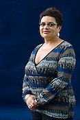 Jackie Kay, Scottish, poet, broadcaster, children's author, playwright. Edinburgh International Book Festival, Edinburgh, Scotland. Edinburgh is the inaugural UNESCO City of Literature.