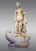 Statue of Thetsis - a 2nd century AD Roman statue found in the city of Lavinia, Italy. Thetis (/ˈθɛtɪs/; Ancient Greek: Θέτις, [tʰétis]), is encountered in Greek mythology mostly as a sea nymph or known as the goddess of water, one of the fifty Nereids, daughters of the ancient sea god Nereus. he statue belonged to a set of ten divinities formerly presented in the portico hemicycle of the city. The Albani Collection Inv No. LL 19 (Usual No Ma 2244), Louvre Museum, Paris.