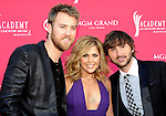 Lady Antebellum - Charles Kelley, Hillary Scott and Dave Haywood at the 2009 Academy Of Country Music Awards at the MGM Grand in Las Vegas, April 5th 2009..Photo bt Chris Walter-Photofeatures