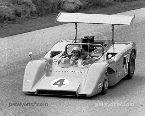 McLaren M8B of Bruce McLaren at 1969 Elkhart Lake Can-Am; PHOTO BY Pete Lyons 1969 / © 2014 Pete Lyons/www.petelyons.com