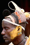 Hamar tribesman, Lower Omo River, Ethiopia