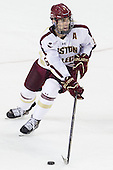 Patrick Wey (BC - 6) - The Boston College Eagles defeated the visiting Boston University Terriers 5-2 on Saturday, December 1, 2012, at Kelley Rink in Conte Forum in Chestnut Hill, Massachusetts.