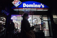 A Domino's Pizza store in the New York neighborhood of Chelsea seen on Wednesday, December 28, 2011. (© Richard B. Levine)