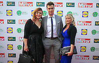 19/05/2015 <br /> (L to r) Gill fitzsimons, Alan Cawley, Ciara Rowe <br /> All from vizeum<br /> during the Irish mirror pride of Ireland awards at the mansion house, Dublin.<br /> Photo: gareth chaney Collins