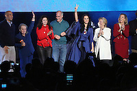 PHILADELPHIA, PA - NOVEMBER 5: Singer-songwriter, Katy Perry pictured with Hillary Clinton at the Katy Perry, Get Out The Vote concert in support of Hillary Clinton at Mann Center For Performing Arts  in Philadelphia, Pa on November 5, 2016  photo credit  Star Shooter/MediaPunch