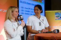 Kristine Lilly, Steffi Jones. A Welcome USA reception for the FIFA Women's World Cup 2011 was held at the German ambassador's residence in Washington, DC.