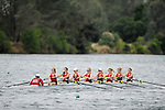 28 MAY 2011: Bates College I rows during the Grande Eights Final during the 2011 NCAA Division III Women's Rowing Championship hosted by Washington State University held at the Sacramento State Aquatic Center in Gold River, CA. Bates I placed 2nd in the race. Brett Wilhelm/NCAA Photos