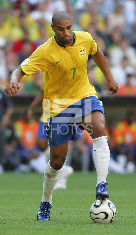 Adriano of Brazil. Brazil defeated Australia, 2-0, in their FIFA World Cup Group F match at the FIFA World Cup Stadium, Munich, Germany, June 18, 2006.