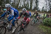 Michael van Staeyen (BEL/Cofidis) on the Chemin de Wih&eacute;ries cobble section (Honelles)<br /> <br /> GP Le Samyn 2017 (1.1)