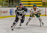 1 February 2015: Providence College Friar Forward Courtney Kukowski, a Junior from Apple Valley, MN, in first period action against the University of Vermont Catamounts at Gutterson Fieldhouse in Burlington, Vermont. The Friars fell to the Lady Cats 7-3 in Hockey East play. Mandatory Credit: Ed Wolfstein Photo *** RAW (NEF) Image File Available ***