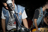 A punk band performs at a concert at Castle Bar in Nanjing, China.