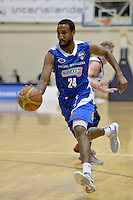 Ernest Scott in action during the NBL - Wellington Saints v Nelson Giants at TSB Bank Arena, Queens Wharf, Wellington, New Zealand on Friday  2 May 2014. <br /> Photo by Masanori Udagawa. <br /> www.photowellington.photoshelter.com.