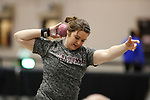 NAPERVILLE, IL - MARCH 11: Kendra Antony of UW-LaCrosse competes in the women's shot put at the Division III Men's and Women's Indoor Track and Field Championship held at the Res/Rec Center on the North Central College campus on March 11, 2017 in Naperville, Illinois. (Photo by Steve Woltmann/NCAA Photos via Getty Images)