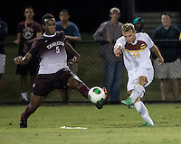 The Winthrop University Eagles played the College of Charleston Cougars at Eagles Field in Rock Hill, SC.  College of Charleston broke the 1-1 tie with a goal in the 88th minute to win 2-1.  Max Hasenstab (18), Tanner Clay (5)
