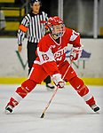 9 February 2008: Boston University Terriers' defenseman Sarah Appleton, a Sophomore from New Canaan, CT, in action against the University of Vermont Catamounts at Gutterson Fieldhouse in Burlington, Vermont. The Terriers shut out the Catamounts 2-0 in the Hockey East matchup...Mandatory Photo Credit: Ed Wolfstein Photo