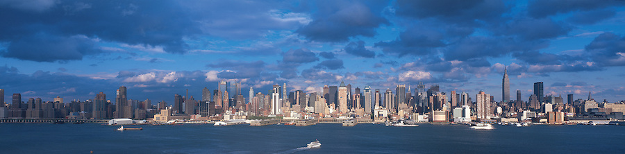 Midtown Manhattan Skyline, New York City, NY,  from Weehawken, New Jersey