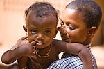 Fulani boy and child in Niamey, Niger.