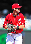 25 April 2010: Washington Nationals' infielder Adam Kennedy in action against the Los Angeles Dodgers at Nationals Park in Washington, DC. The Nationals shut out the Dodgers 1-0 to take the rubber match of their 3-game series. Mandatory Credit: Ed Wolfstein Photo