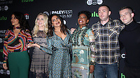 NEW YORK, NY-October 17:Yasmine al Massri, Johanna Braddy,Priyanka Chopra, Aunjanue Ellis, Jake McLaughlin, Russell Tovey at PaleyFest New York presents Quantico at the Paley Center for Media in New York.October 17, 2016. Credit:RW/MediaPunch