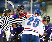 John McInnis (Mankato - 7), Nick Curry (Lowell - 25), Josh Nelson (Mankato - 2) - The visiting Minnesota State University-Mankato Mavericks defeated the University of Massachusetts-Lowell River Hawks 3-2 on Saturday, November 27, 2010, at Tsongas Arena in Lowell, Massachusetts.
