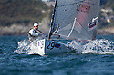 Pictures of Ben Ainslie (GBR 3).Day 1 of racing JP Morgan Asset Management Finn Gold Cup 2012. Falmouth.Credit: Lloyd Images