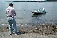 At the Greeley Cottage, Potts Point, South Harpswell, Maine.