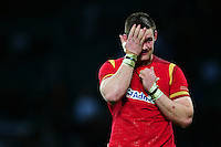 Dan Lydiate of Wales looks dejected after the match. RBS Six Nations match between England and Wales on March 12, 2016 at Twickenham Stadium in London, England. Photo by: Patrick Khachfe / Onside Images