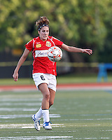 Western New York midfielder Angela Salem (6) collects a pass. In a Women's Premier Soccer League Elite (WPSL) match, the Boston Breakers defeated Western New York Flash, 3-2, at Dilboy Stadium on May 26, 2012.