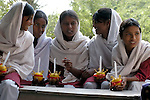 Youth participate in Sunday School at a congregation of the Church of Pakistan at Mirpurkhas..