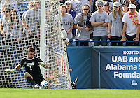 HOOVER, AL - DECEMBER 09, 2012: Tomas Gomez (1) of Georgetown University makes a save during the NCAA 2012 Men's College Cup championship, at Regions Park, in Hoover , AL, on Sunday, December 09, 2012.