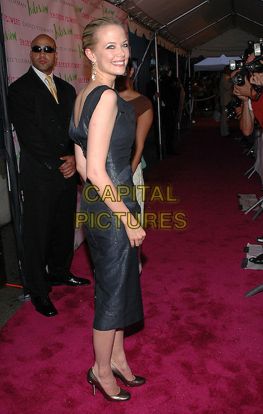 """PELL JAMES.The premiere of her new film, """"Broken Flowers"""", at the Chelsea West Cinema in Manhattan, New York, New York.  .July 27th, 2005.Photo Credit: Patti Ouderkirk/AdMedia.full length grey gray dress looking over shoulder.www.capitalpictures.com.sales@capitalpictures.com.© Capital Pictures."""