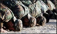 Afghan Army training in Afghanistan December 13, 2005.