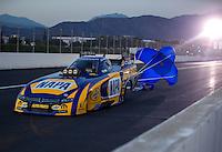 Nov 11, 2016; Pomona, CA, USA; NHRA funny car driver Ron Capps during qualifying for the Auto Club Finals at Auto Club Raceway at Pomona. Mandatory Credit: Mark J. Rebilas-USA TODAY Sports