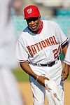 5 March 2006: Frank Robinson, Hall of Fame Manager of the Washington Nationals, on the field after a Spring Training game against the Baltimore Orioles. The Nationals defeated the Orioles 10-6 at Space Coast Stadium, in Viera Florida...Mandatory Photo Credit: Ed Wolfstein..
