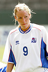 24 July 2005: Iceland's Hrefna Johannesdottir, pregame. The United States defeated Iceland 3-0 at the Home Depot Center in Carson, California in a Women's International Friendly soccer match.