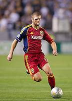 CARSON, CA - March 10,2012: Real Salt Lake defender Chris Wingert (17) during the LA Galaxy vs Real Salt Lake match at the Home Depot Center in Carson, California. Final score LA Galaxy 1, Real Salt Lake 3.