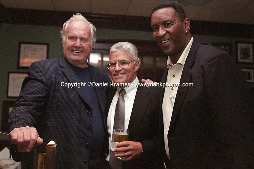 Paul Hornung, Vince Lombardi Jr. and Marv Fleming at the Lombardi's Legends Reunion mixer at Lombardi's Steakhouse in Appleton, Wisconsin in September of 2001.