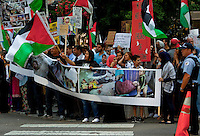 Protest Against Israeli Attack on Gaza Strip Chicago Illinois 7-28-14