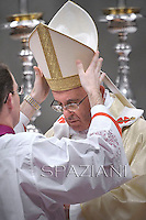 Pope Francis  he conferred the Episcopal Ordination to Vatican Governorate Secretary General, Fernando Vergez Alzaga of Spain in St. Peter's Basilica at the Vatican on November 15, 201