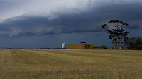 Storm approaching farmland, Western Victoria.<br /> <br /> Larger JPEG + TIFF images available by contacting use through our contact page at :..www.photography4business.com