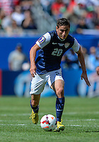 Chicago, IL - Sunday July 28, 2013:  USMNT Alejandro Bedoya (20) during the CONCACAF Gold Cup Finals soccer match between the USMNT and Panama, at Soldier Field in Chicago, IL.