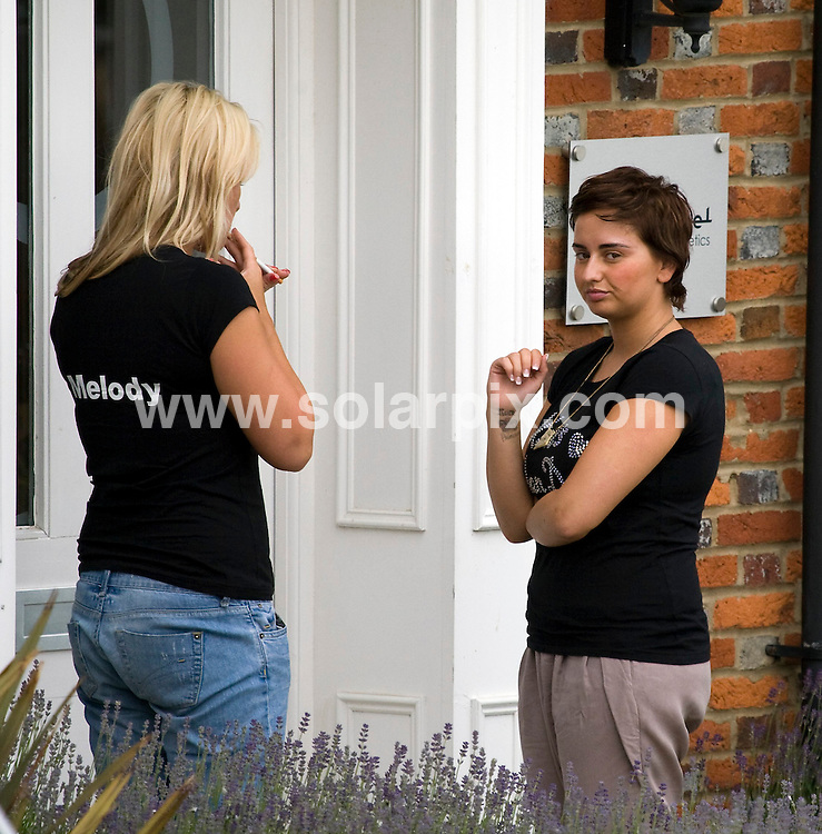 **ALL ROUND PICTURES FROM SOLARPIX.COM**.**WORLDWIDE SYNDICATION RIGHTS**.Katie Price aka Jordan and family and friends arrive at the Nilam Patel Clinic in Broughton, Buckinghamshire to have a Botox party as part of her Hen day celebrations before her (2nd) wedding to cagefighter Alex Reid. Buckinghamshire, UK. 13 June 2010..This pic: friend Melody and sister Sophie Price..JOB REF: 11466 SKD       DATE: 13_06_2010.**MUST CREDIT SOLARPIX.COM OR DOUBLE FEE WILL BE CHARGED**.**MUST NOTIFY SOLARPIX OF ONLINE USAGE**.**CALL US ON: +34 952 811 768 or LOW RATE FROM UK 0844 617 7637**
