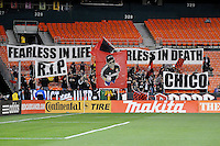 D.C. United District Ultras fans paying tribute to a fallen comrade.  D.C. United tied The Montreal Impact 1-1, at RFK Stadium, Wednesday April 18 , 2012.